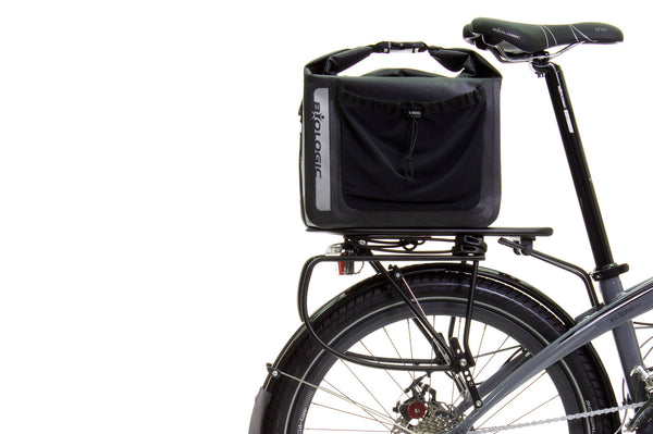 Mount trunk bags or baskets to top deck, and panniers on lower rails