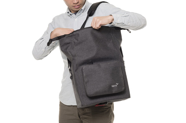 Tern Dry Goods Bag is with comfortable messenger strap and soft sidewalls