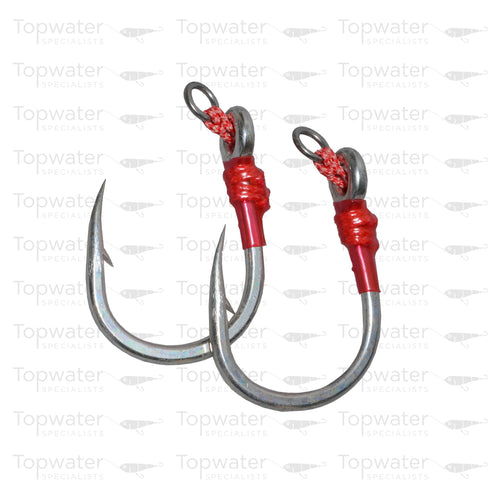 MC Works Bondage Hooks 9/0 available at Topwaterspecialists.com