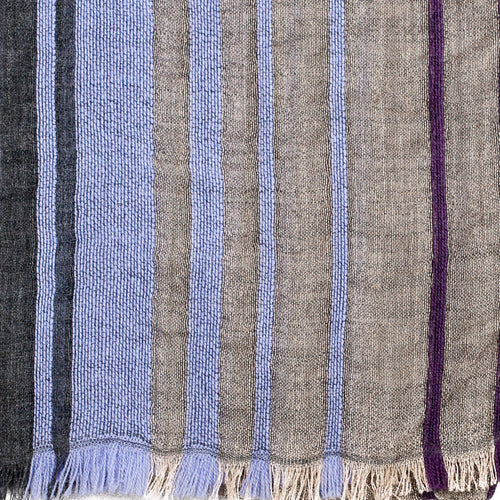 Striped Wool Unisex Scarf