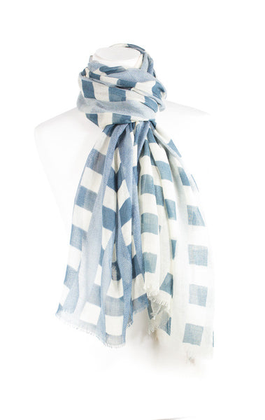 Checks design Cashmere Scarf