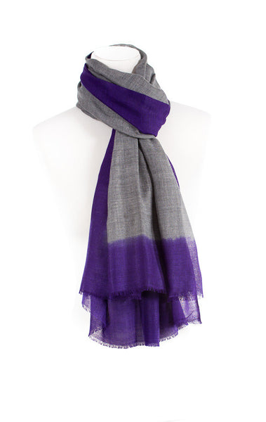 Tie and Dye Wool Scarf
