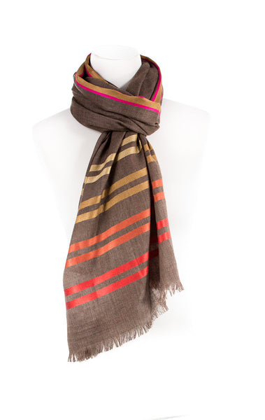 Stripes Cashmere Wool Scarf