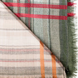 Double Colour Striped Cashmere Scarf