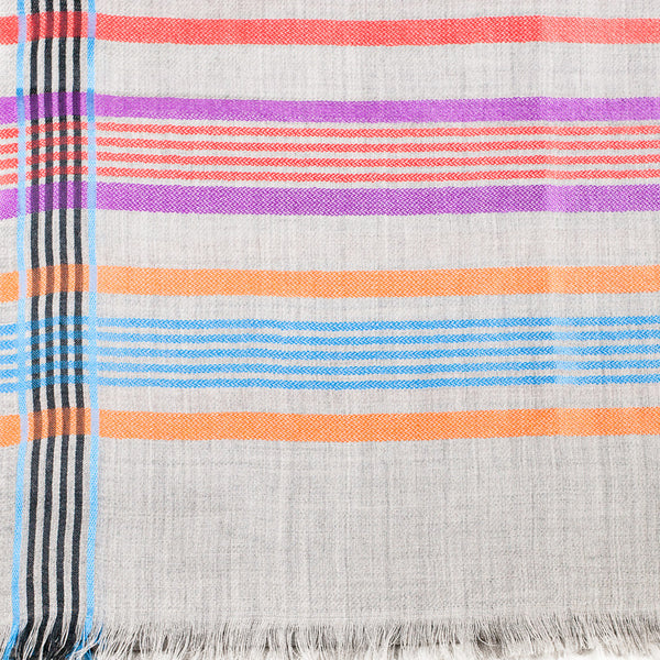 Cashmere Wool Striped Scarf