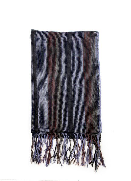Fine Striped Unisex Wool Scarf