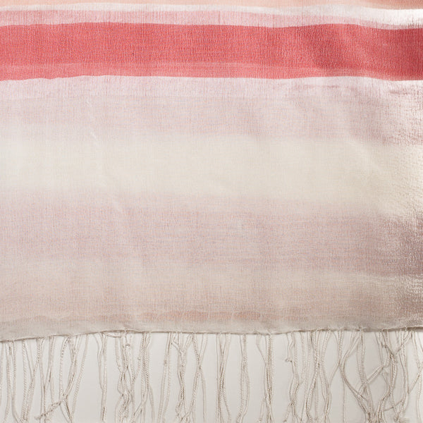 Stripes Wool Silk Scarf