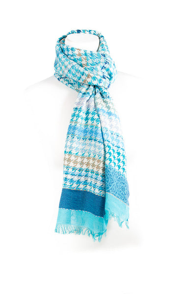 Twin Coloured Cashmere Scarf