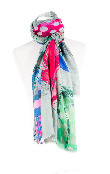 Floral Print Cashmere Scarf