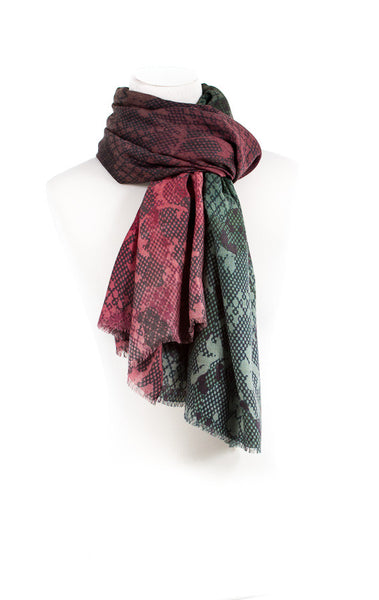Cashmere Wool Print Multi Shaded Scarf