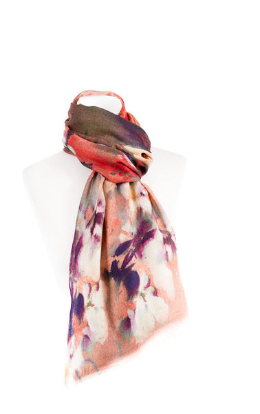 Floral Print Modal Cashmere Scarf