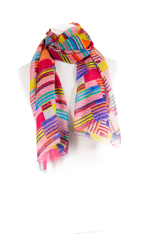 Multicolour Silk Scarf
