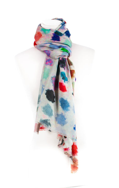 Multicolour Wool Silk Scarf
