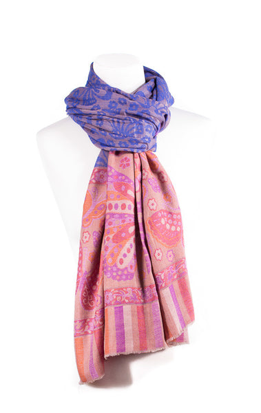 Cashmere Pashmina Embroidered Scarf