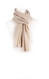 Self Pattern Natural Coloured Men's Pashmina