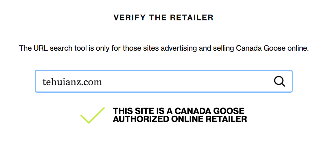 te huia is an authorized Canada Goose retailer