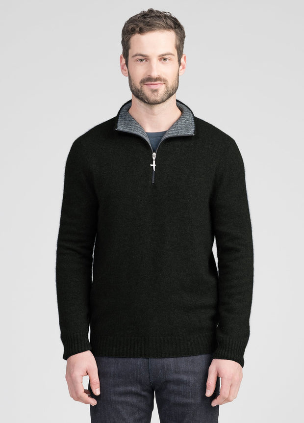 Mens Estuary Half Zip - Dark Olive