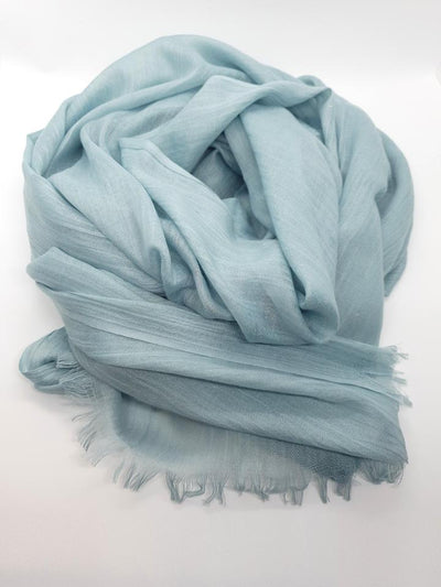 Womens Bamboo Scarf - Egg Shell Blue
