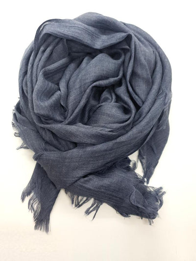 Womens Bamboo Scarf - Denim Blue
