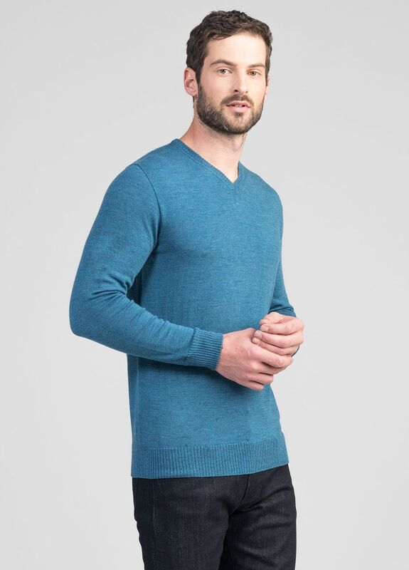 Mens Simple Merino Vee