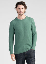 Mens Textured Rib Crew-Untouched World-Te Huia New Zealand