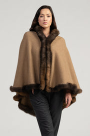 Womens U Cape Natural - Camel | Shop Merinomink at Te Huia in Arrowtown, NZ
