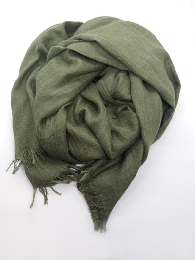 Womens Bamboo Scarf - Forest Green