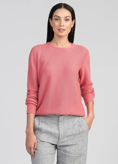 Womens Stitch Sweater - Pink Shrimp