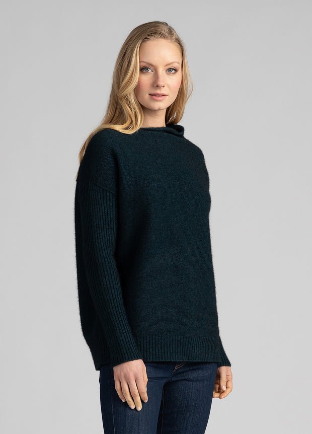 Womens Mellow Sweater - Peacock
