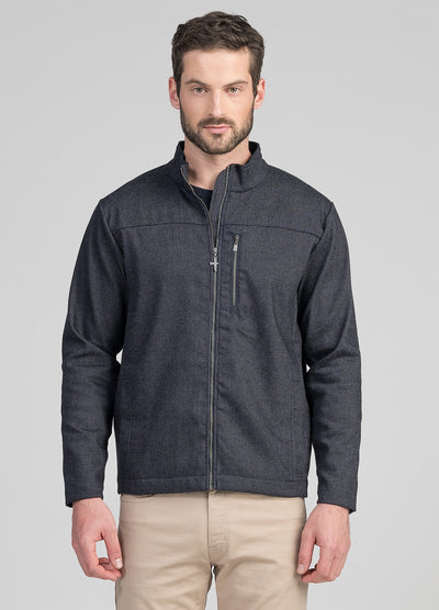 Mens Wool Denim Zip Jacket | Shop Untouched World at Te Huia in Arrowtown, NZ