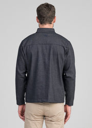 Mens Wool Denim Zip Jacket