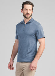 Mens Zip Tee - Coast