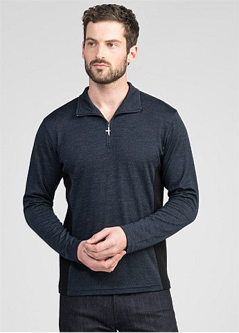 Mens Panel Zip Shirt
