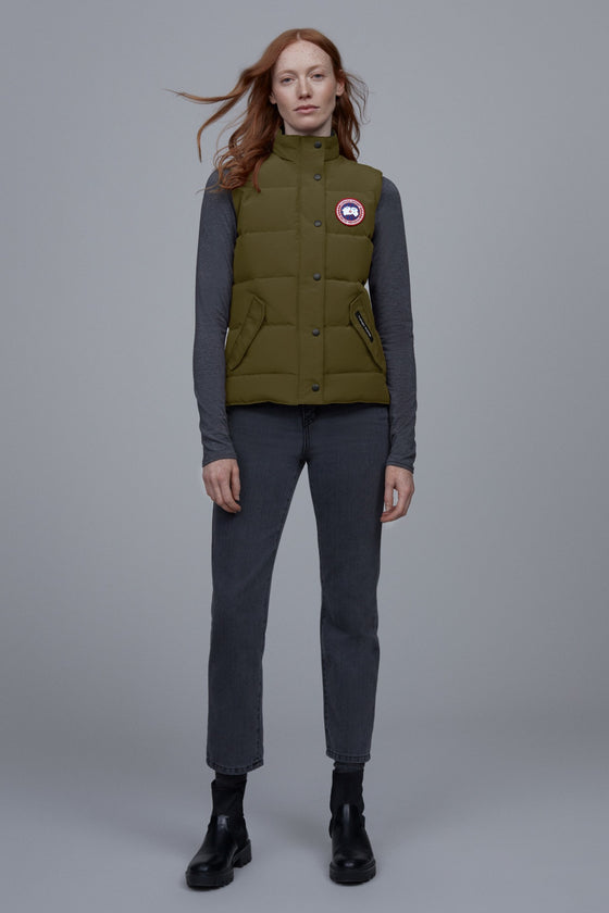 Canada Goose Womens Freestyle Vest Military Green