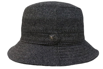 Scalloped Bucket Hat - Charcoal