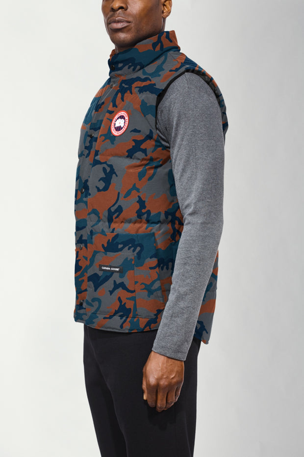Mens Freestyle Crew Vest Print