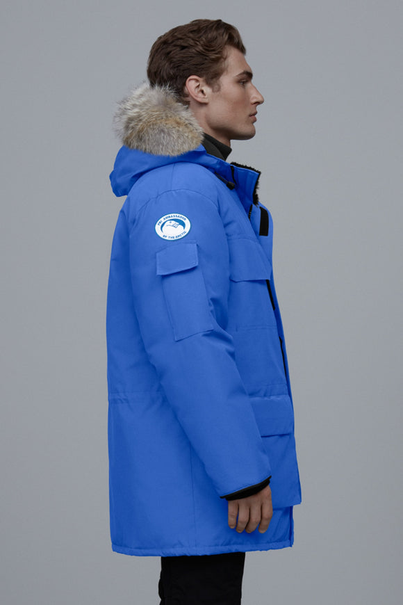Canada Goose Mens Polar Bears International Expedition Parka PBI Blue