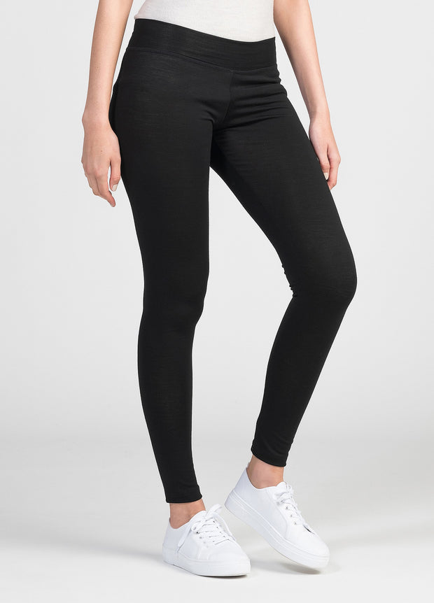 Womens Snow Leggings - Black