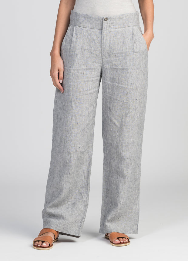 Womens Wide Linen Pants