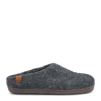 Womens Wool Felt Slipper Suede - Green Comfort | Te Huia New Zealand