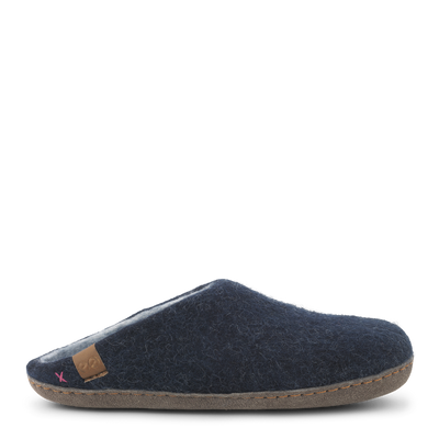 Womens Bhutan Wool Felt Slipper - Blue Grey