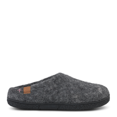Mens Wool Felt Low Cut Slipper - Green Comfort | Te Huia New Zealand
