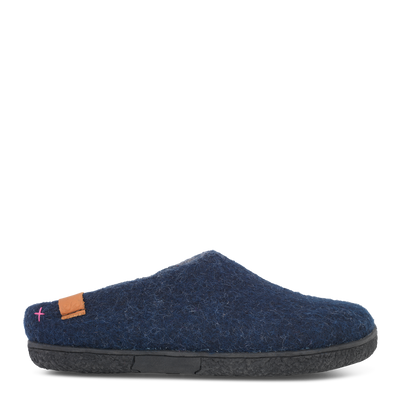 Womens Wool Felt Low Cut Slipper - Green Comfort | Te Huia New Zealand