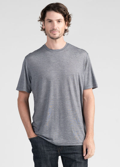 Mens Merino Tencel Tee-Untouched World-Te Huia New Zealand