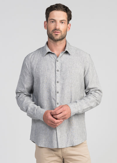 Mens Relaxed Linen Shirt