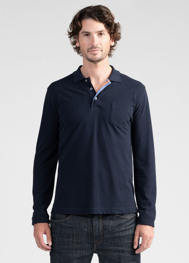 Mens L/S Polo-Untouched World-Te Huia New Zealand