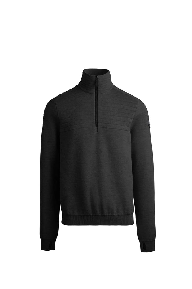 Mens Clarke 1/4 Zip Sweater Black Label