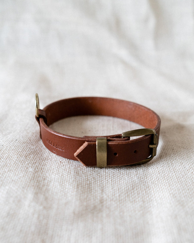 Leather Dog Collar - Whiskey