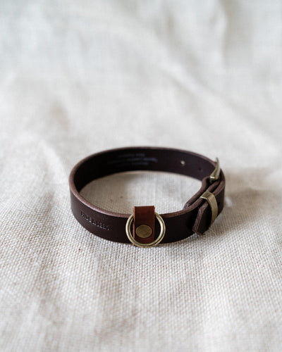 Leather Dog Collar - Chestnut