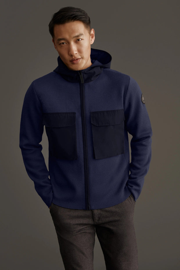 Mens Elgin Full Zip Sweater Black Label